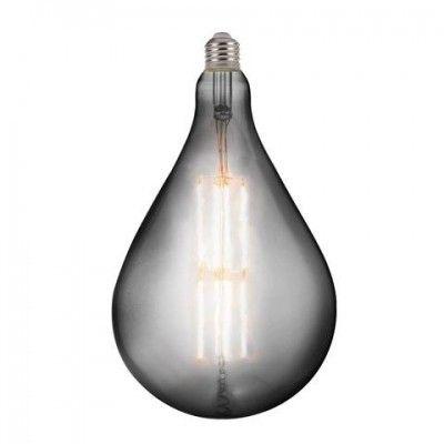 Лампа светодиодная 8W E27 2400K filament Horoz TOLEDO Titanium