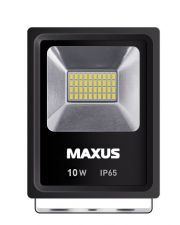 Прожектор LED FLOOD LIGHT MAXUS 10W, 5000K (1-MAX-01-LFL-1050)