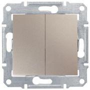 Выключатель двухклавишный титан Sedna Schneider Electric SDN0300168