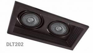 Карданний LED світильник DLT202 2хMR16/G5.3 чорний поворотний Feron