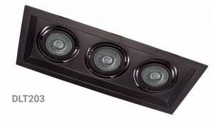 Карданний LED світильник DLT203 3хMR16/G5.3 чорний поворотний Feron
