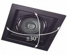 Карданний LED світильник DLT201 MR16/G5.3 чорный поворотний Feron