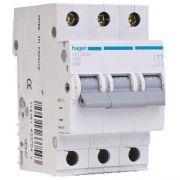 Автоматичний вимикач Hager 3p 63А B MB363A