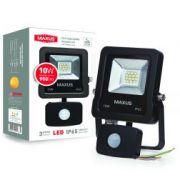 Прожектор LED FLOOD LIGHT MAXUS 10W с датчиком движения 5000K (1-MAX-01-LFL-1050s)