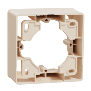 Коробка для открытой установки 1-постовая Schneider Electric Unica New бежевый