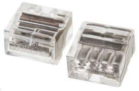 243-144 Микросоединитель с плоскопружинным фиксатором для распределительных коробок 4-пров. Клемма WAGO