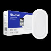 Антивандальный светильник GLOBAL 15W 5000K (IP65) для ЖКГ Овал