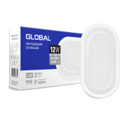 Антивандальный светильник GLOBAL 12W 5000K (IP65) для ЖКХ Овал