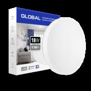 Накладной светильник Круг GLOBAL 18W 4100К защиту IP44