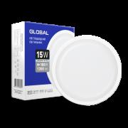 Антивандальный светильник GLOBAL 15W 5000K IP65 для ЖКХ Круг
