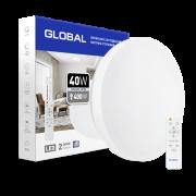 Умный светильник Global 40W Круг (пульт, димминг, ночник, CCT 3000-6500K, IP44)