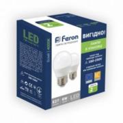 Лампа светодиодная (набор 2 шт) 6W E27 4000K Feron LB-745 G45