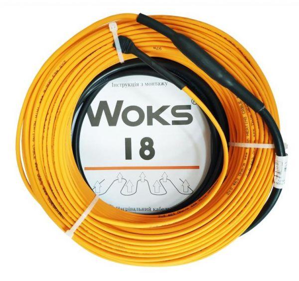 Тепла підлога Woks 18 тонкий потужний нагрівальний кабель двожильний 147м 2650Вт 0922023