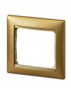 Рамка 1п матове золото Valena Legrand 770301