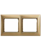 Рамка 2п матове золото Valena Legrand 770302