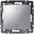 Выключатель двухполюсный 16А алюминий Valena Legrand 770204