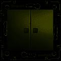 Вимикач двоклавішний з двома індикаторами алюміній Valena Legrand 770213