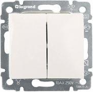 Кнопка перекидная двухклавишная белый Valena Legrand 774218