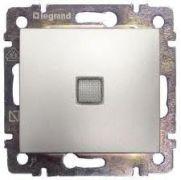 Вимикач двополюсний з індикацією алюміній Valena Legrand 770149