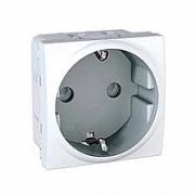 MGU3.037.18 Розетка с заземлением, защитными шторками белая Unica Schneider Electric