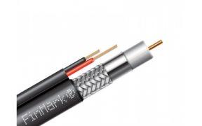 Коаксіальний телевізійний кабель з живленням біметал F5967BV-2x0,75 power чорний 305м FinMark