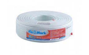 Коаксіальний телевізійний кабель біметал RG-6 SM білий 100м FinMark