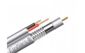 Коаксіальний телевізійний кабель з живленням біметал F5967BV-2x0,75 power білий 305м FinMark