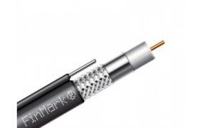 Коаксиальный телевизионный кабель с тросом биметалл F660BVM черный 305м FinMark