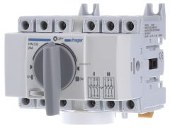 Перемикач перекидний трьохпозиційний Hager I-0-II 20А 400/690В 3п 5м HIM302
