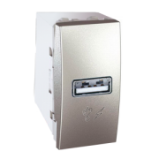 MGU3.428.30 Розетка USB-виход 1мод., алюминий Unica Schneider Electric