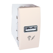 MGU3.428.25 Розетка USB-виход 1мод., слоновая кость Unica Schneider Electric
