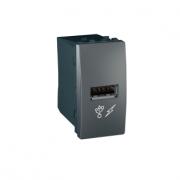 MGU3.428.12 Розетка USB-вихід 1мод., графіт Unica Schneider Electric