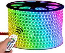 Світлодіодна LED стрічка 220V SMD2835 48 IP67 RGBY-Multi-color (6 кольорів) Веселка
