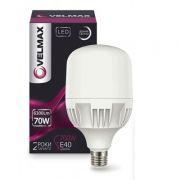 Светодиодная лампа высокомощная 70W E27-E40 6500K Velmax V-A135-70