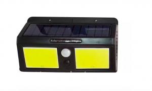 Подсветка стены с датчиком движения + солнечная панель + аккумулятор 12W 6500K IP65 LED Lemanso LM1113