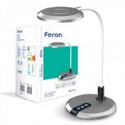 Настільний світлодіодний світильник 8Вт 3000-6000K срібний Feron DE1731