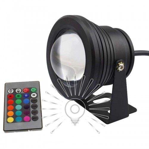 Светильник садовый 10W 900LM RGB IP65 с пультом черный Lemanso LM3702 / LM16