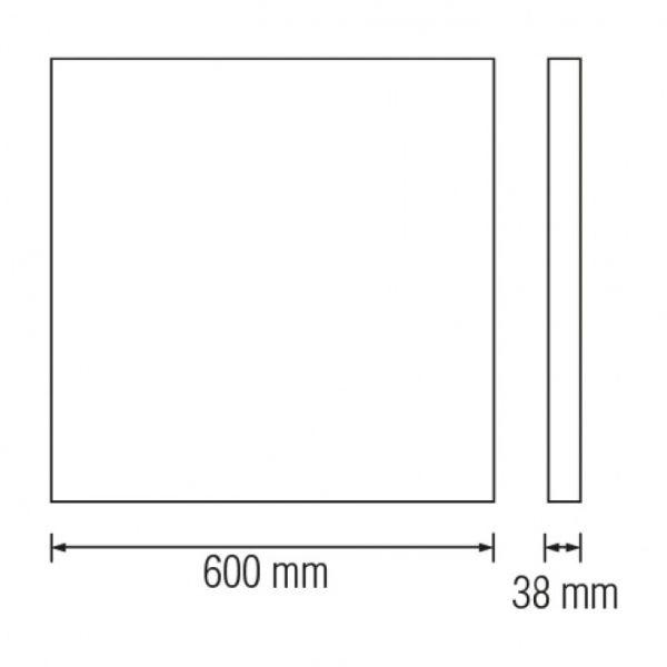 Светодиодный светильник накладной Horoz Electric PULSAR-48 48W 6400К черный
