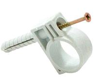 Обойма для труб и кабеля D13-14мм с ударным шурупом (50шт.)