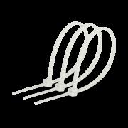 Хомут стяжка кабельная 5x400мм нейлон белый (100 шт.)