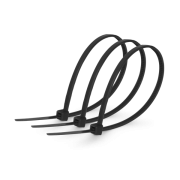 Хомут стяжка кабельная 5x400мм нейлон черный (100 шт.)
