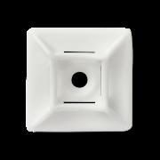 Площадка 29х29 под саморез для кабельной стяжки белая (100шт.)