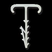 Дюбель елочка плоский двойной 2х12 белый (100 шт.)