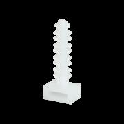 Дюбель-площадка 6х30 пластинчатая для кабельной стяжки белая (100шт.)