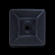 Площадка 29х29 под саморез для кабельной стяжки черная (100шт.)