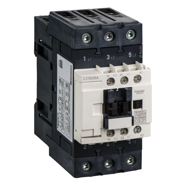 LC1D65AB7 Контактор D 3Р 65А НО+НЗ 24V АС Schneider Electric