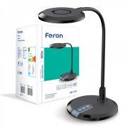 Настільний світлодіодний світильник 8Вт 3000-6000K чорний Feron DE1731