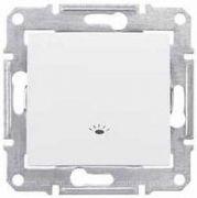 Вимикач одноклавішний з символом Cвітло білий Sedna Schneider Electric SDN0900121