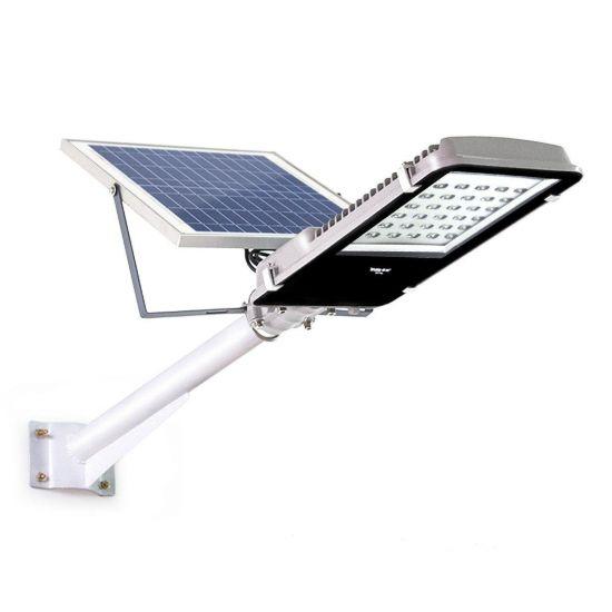 LED світильник вуличний 100W на сонячній батареї з пультом 6500K IP65 VARGO VS-050