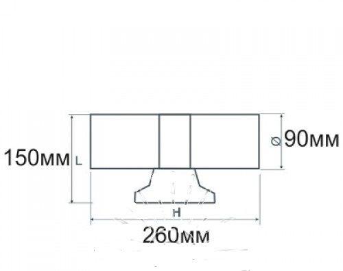 Подсветка для стены серая LED Lemanso 2хE27 - G45 / A60 IP65 LM1107
